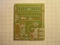 LED-Spannungsanzeige - Platine professionell 36x43mm