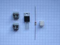 LED nach 230 Volt Schalter - Bauteilesatz