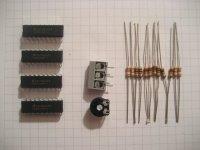 40 LED-Spannungsanzeige - Bauteilesatz